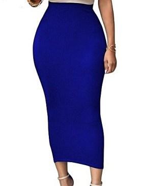 Sexy body con maxi skirt-Royal bLlue.