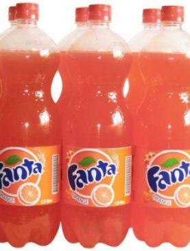 6 pack fanta soft drink-Orange.