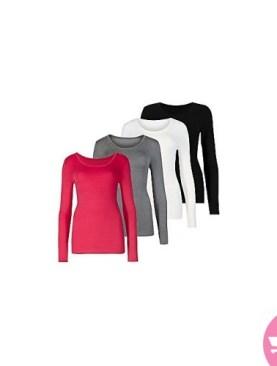 4 Pack ladies camisoles-Black,maroon,white,grey.