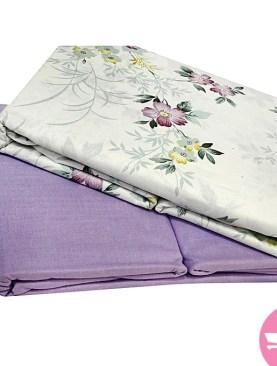 Original pure cotton bed sheets-White,Purple.