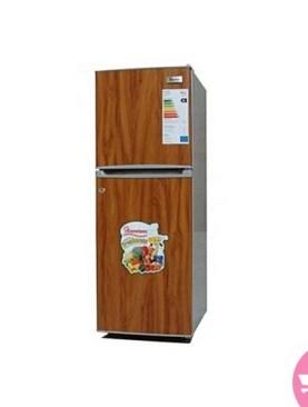 Ramtons double door fridge-Brown.