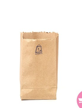 Extra Small Takeaway Paper Bags 105 Pieces - Brown