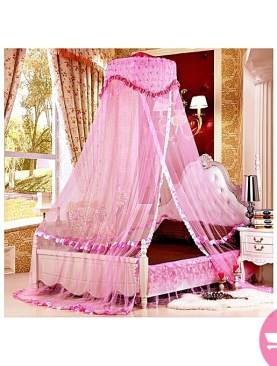 Mosquito net bed canopy netting insect protection bed outdoor Curtain Dome - Pink