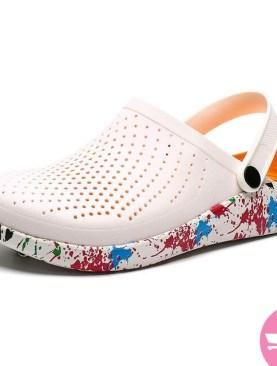 Slip on mule plastic shoes -white
