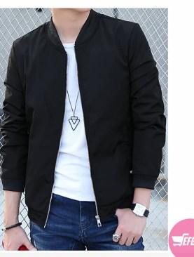 Slim fit men's jackets -black