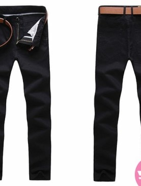 Men's khaki trousers -black