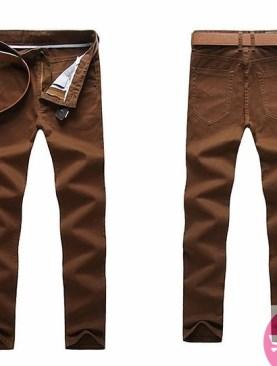 Men's khaki trousers-coffee brown