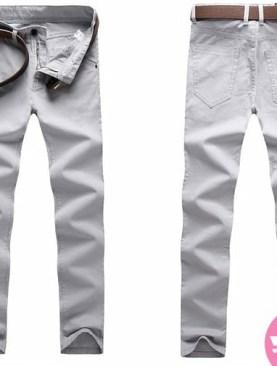 Men's khaki trousers -white
