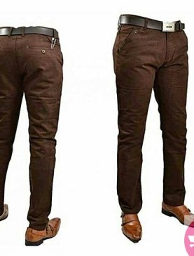Men's khaki trousers -brown