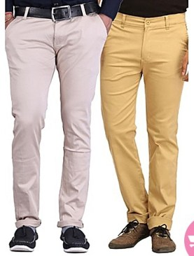 2 pack men's khaki trousers