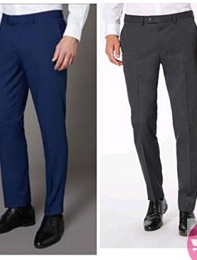 men's 2 pack formal trousers