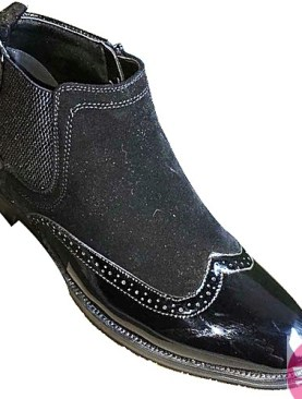 Men's oxford boot shoes-black