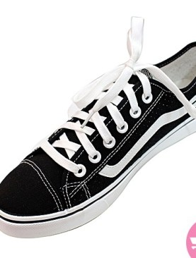Men's converse( vans off the wall) shoes- black and white