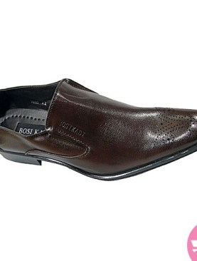 Men's gentle tassel shoes- dark brown