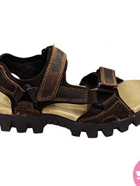Men's flat open shoes- brown