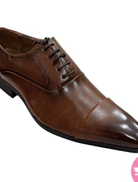 Men's classic spotless shoes- brown
