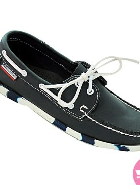 Men's mocassin shoes- black and white