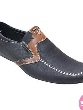 Men's mocassin shoes- black and brown