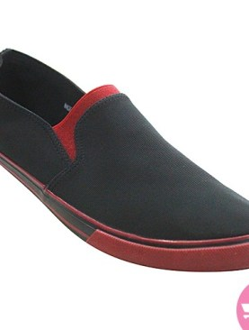 Men's casual shoes -black and red