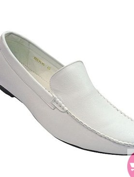 Men's mocassin shoes - white