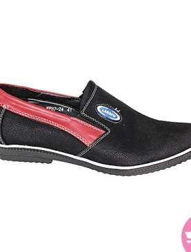 Men's casual shoes- black and red
