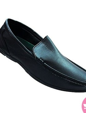 Men's mocassin shoes - black