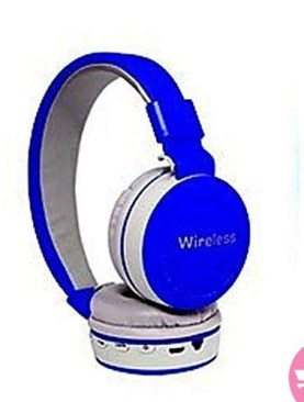 Original MS-881A Bluetooth Wireless Fully Dolby Headphones for PC And All Smartphones - Blue,Grey