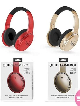 KD15 FM, MP3, TF Card Support Wireless Headset Noise Cancelling Headphone - Color May Vary