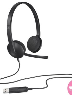 Logitech USB Headset, Stereo, USB Headset for Windows and Mac