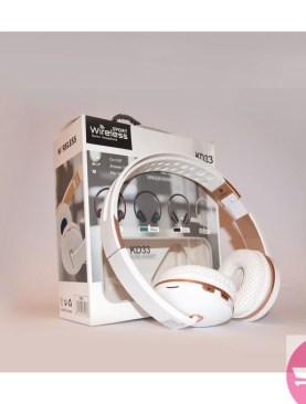 Generic KD33 Wireless Bluetooth, TF,FM Radio Headphones - White