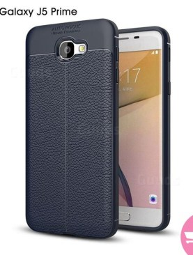Auto focus TPU Silicon leather cover for Samsung J5 prime - Black