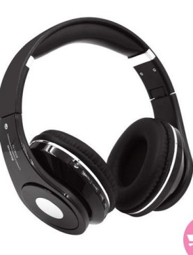 STN-10 Wireless Bluetooth 4.2 Noise Cancelling Folding Over Ear Headphone with Microphone - Black