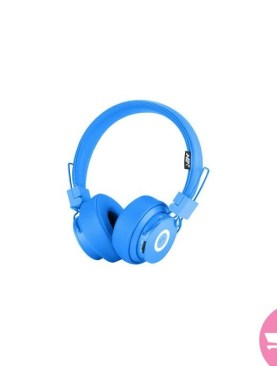 NIA X6 Wireless Bluetooth Headphones with Mic Stereo Bluetooth Headset Support TF Card FM Radio Sport Earphone -in Bluetooth Earphones & Headphones - Blue