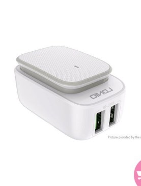 LDNIO A2205 LED Night Light Dual USB Wall Charger Power Adapter - White