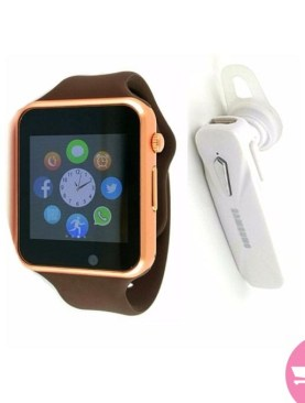 2 Pack of GT08 Bluetooth 3.0 Smart Watch With Camera and a Bluetooth Headset – Black,White