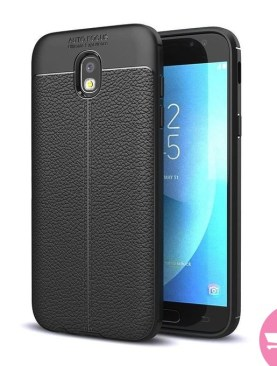 TPU Flexible Auto Focus Shock Proof Back Cover For Samsung Galaxy J7 Pro (Black)