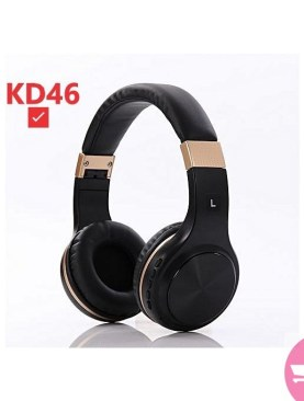 Original KD46 Wireless Super Bass Headphone WithTF SD Memory Card function - Black