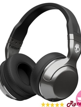 Skullcandy Hesh 2 Bluetooth Wireless Over-Ear Headphones with Microphone, Soft Synthetic Leather Headphones - Black