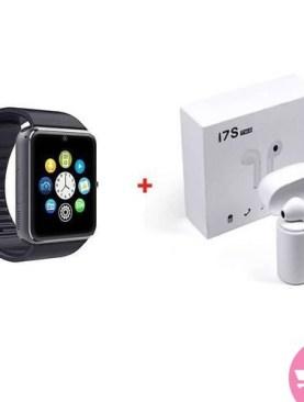 Bundle Of i7 Dual And A1 Bluetooth Smart Watch - White,Black