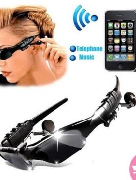 Original Sports Wireless Mp3 Player Bluetooth Sunglass Headset - Black