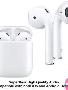 Latest SuperBass i11 TWS True Wireless Earbuds 5.0 Bluetooth Earphones / Airpods / Earpods with Charging Case - White