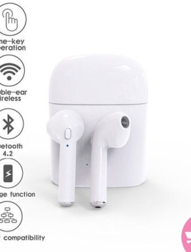 Wireless Bluetooth I7s Airpods / Earbuds / Earphones - White
