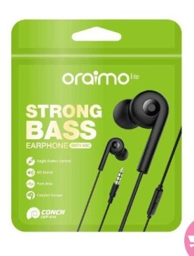 OEP-E10 Strong Bass Earphones With Mic - Black