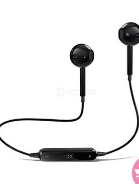 S6 Wireless Sports Headphones Bluetooth 4.1 Headsets Earbuds with Mic Sport Stereo Headset Cancelling Earphone For iPhone Samsung Android - Black,white