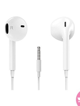 In-Ear Ear Pods Fit-to-Shape Earphones for iPhones - White