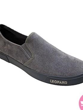Men's designer leopard casual shoes - grey