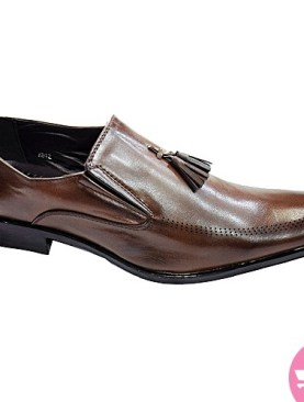 Men's gentle tassel shoes - dark brown