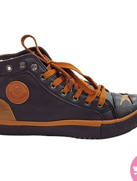 Men's lace up all stars shoes - black and brown