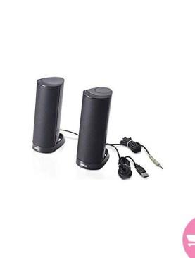 aptop Speakers AX210 USB Stereo Speaker - Black