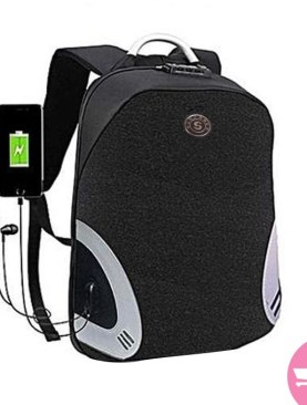 Anti-Theft Laptop Bag with a Charging Port - Black